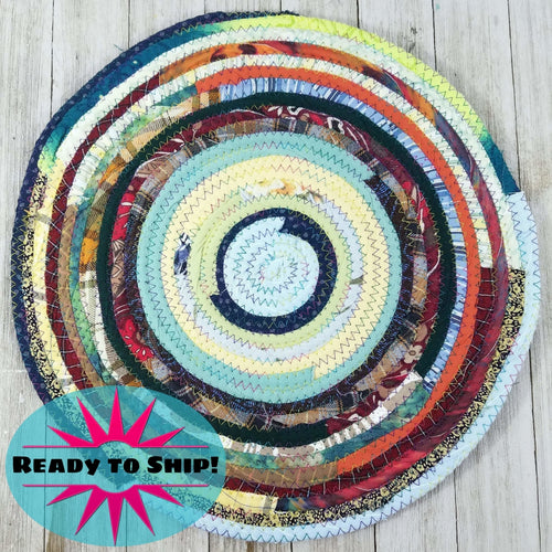 R2S Handmade Table Mat Fabric Placemat 13 Diameter Multicolors Ready To Ship