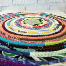 Load image into Gallery viewer, R2S Handmade Table Mat Fabric Placemat 14.5 Diameter Multicolor Brights Ready To Ship