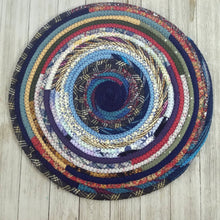Load image into Gallery viewer, R2S Handmade Table Mat Fabric Placemat 14 Diameter Blue Bohemian Multicolors Ready To Ship Mat