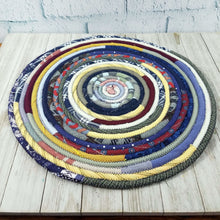 Load image into Gallery viewer, R2S Handmade Table Mat Fabric Placemat 14 Diameter Dark Bohemian Multicolors Ready To Ship
