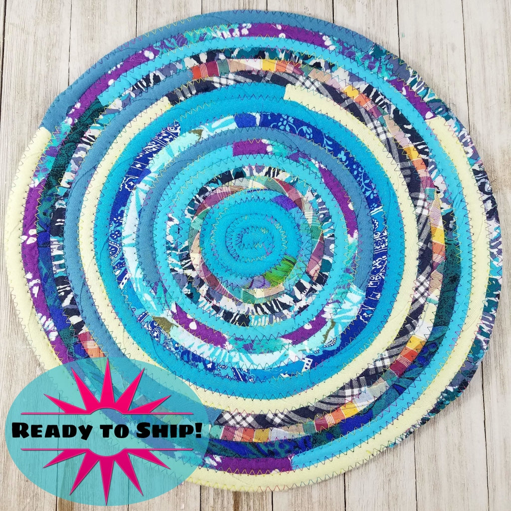 R2S Handmade Table Mat Fabric Placemat 14 Diameter Multicolors Ready To Ship