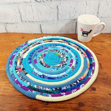 Load image into Gallery viewer, R2S Handmade Table Mat Fabric Placemat 14 Diameter Multicolors Ready To Ship