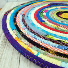 Load image into Gallery viewer, R2S Handmade Table Mat Fabric Placemat 15.5 Diameter Multicolors Ready To Ship
