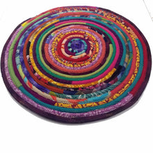 Load image into Gallery viewer, R2S Handmade Table Mat Fabric Placemat 16 Diameter Multicolors Ready To Ship