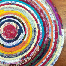 Load image into Gallery viewer, R2S Handmade Table Mat Fabric Placemat 17.5 Diameter Multicolors Ready To Ship Mat