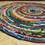 Stair Landing Rug Round Handmade To Order Custom Colors & Sizes