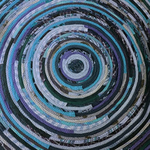 Load image into Gallery viewer, Stair Landing Rug Round Handmade To Order Custom Colors & Sizes