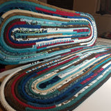 Stair Runners: Jeweled Pattern Multicolor -You Choose Size Color Custom Handmade Treads Carpet