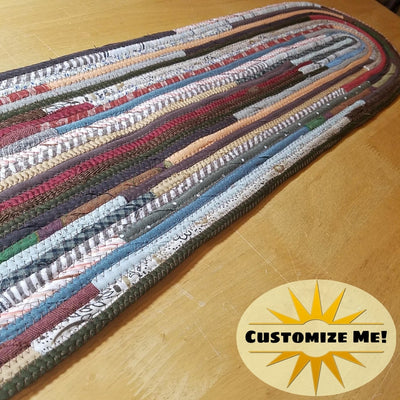 Stair Runners: Jeweled Pattern Multicolor -You Choose Size, Color, Custom Handmade