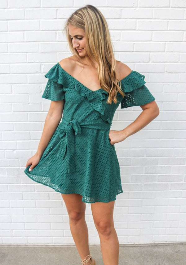Amalia Emerald Dress Dress MINKPINK
