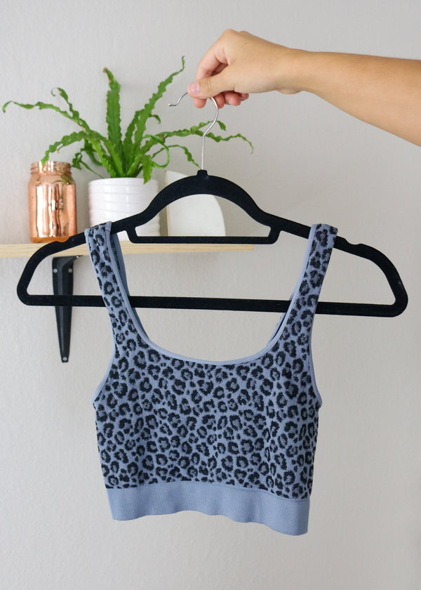Bailey Leopard Sports Bra Top ~