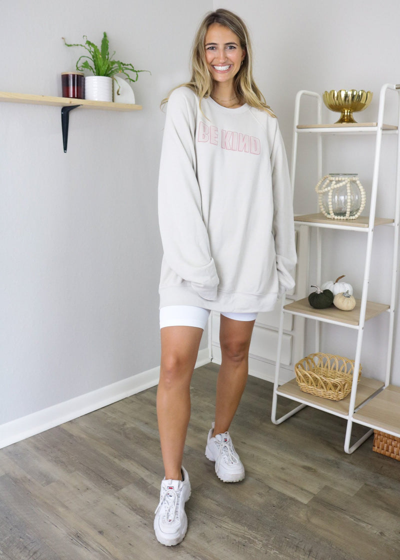 Be Kind Lightweight Crew Neck Pullover ~