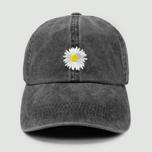 Black Daisy Baseball Cap Accessory David and Young