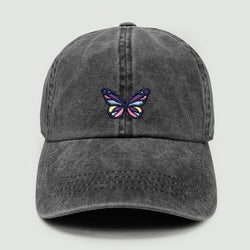 Black Denim Butterfly Cap Accessory David and Young