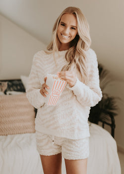 Blush Pink Zebra Pullover Pullover ~