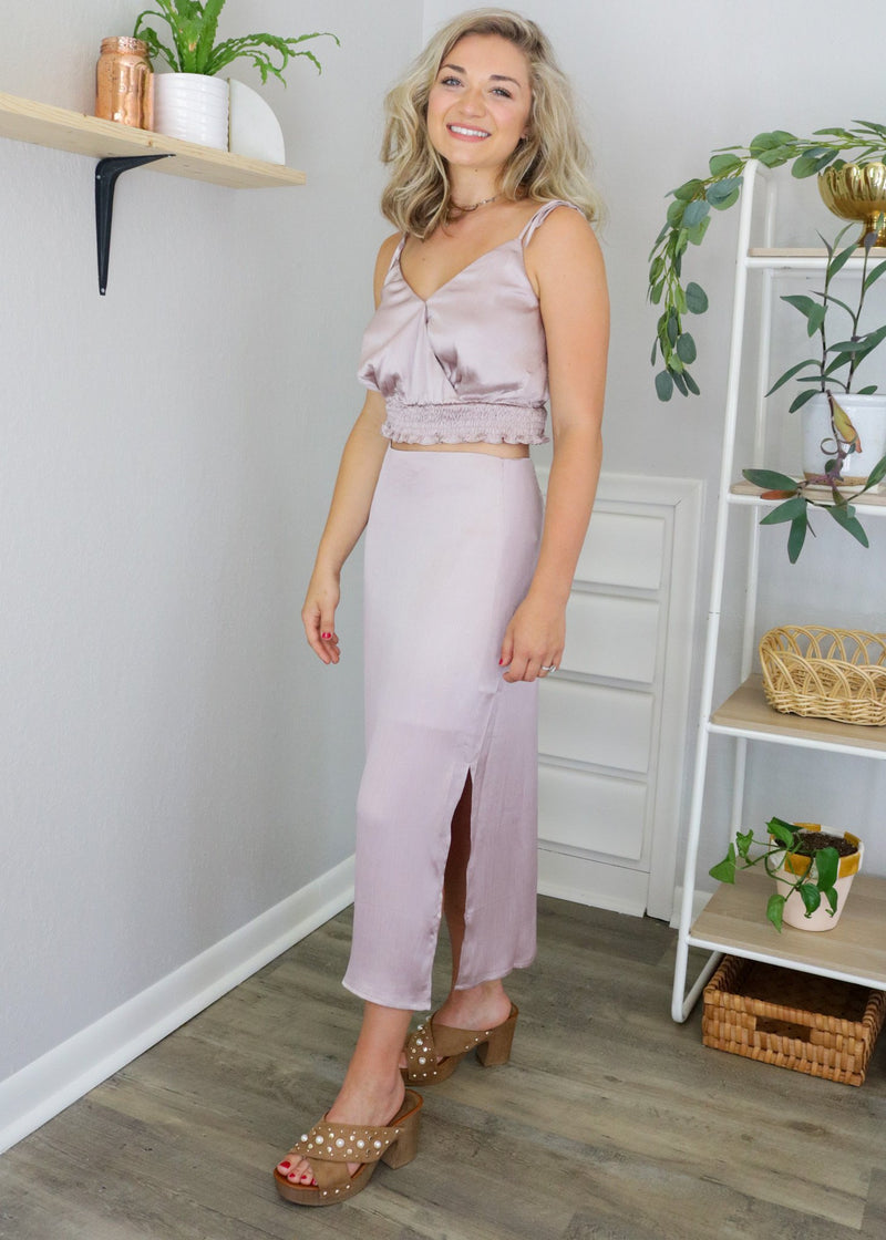 Callie Dusty Pink Midi Skirt Set ~