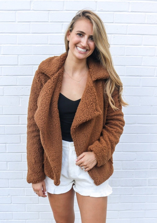 Camel Teddy Coat Coat Jack by BB Dakota