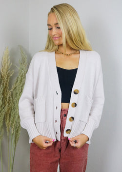 Cape Cod Boxy Cardigan Sweater Outerwear ~