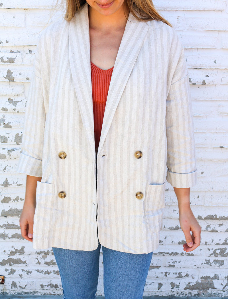 Chelsea Striped Blazer blazer ~