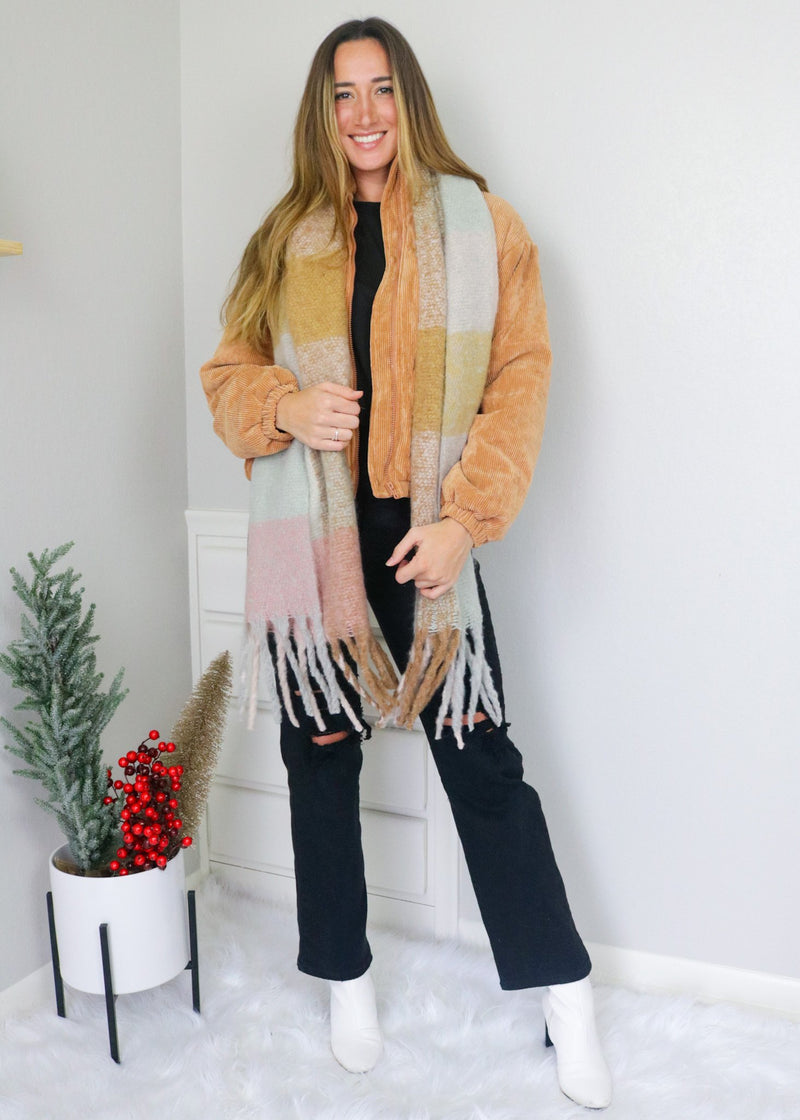Chunky Soft Plaid Scarf Accessory Bolt Boutique