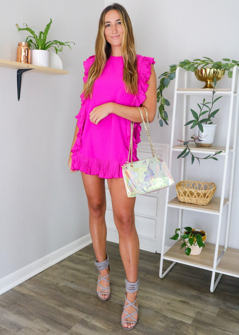 Clara Magenta Ruffle Dress Dress ~