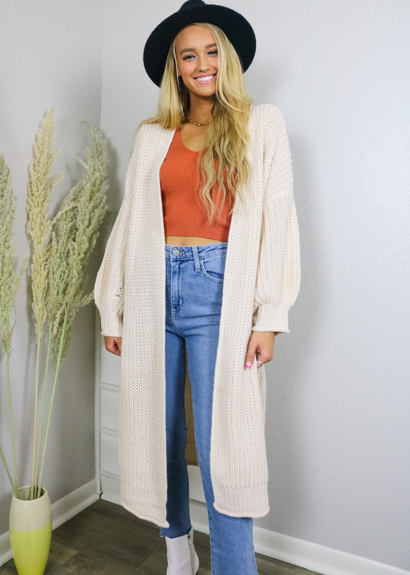 Cozy Mornings Duster Cardigan Cardigan ~