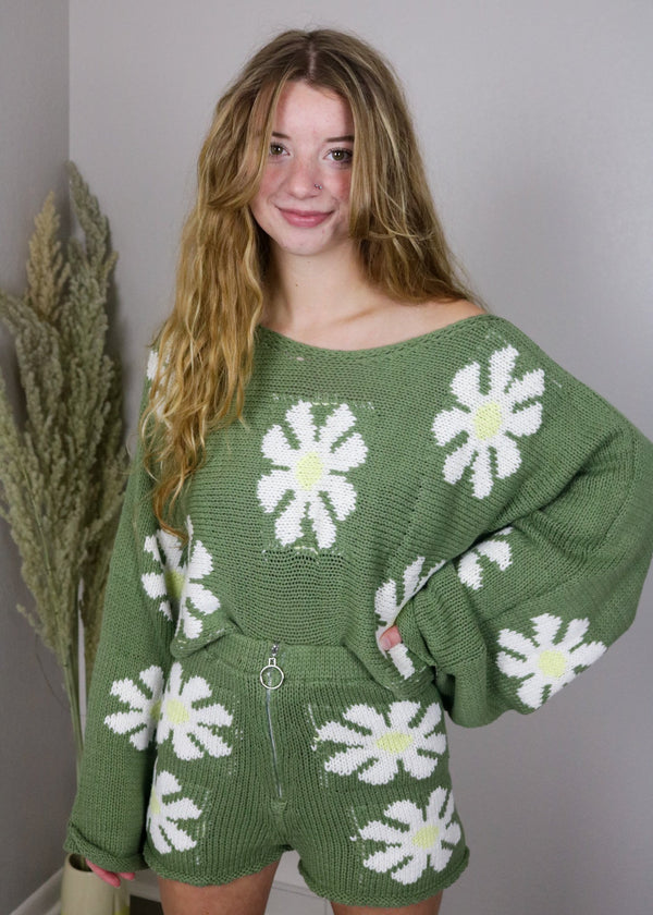 Disco Daisy Oversized Sweater Sweater ~