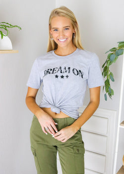 Dream On Graphic Tee Top ~