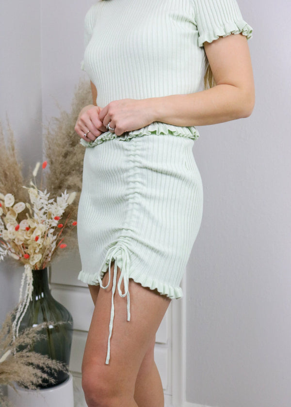 East Coast Sage Stretch Skirt Skirt Le Lis