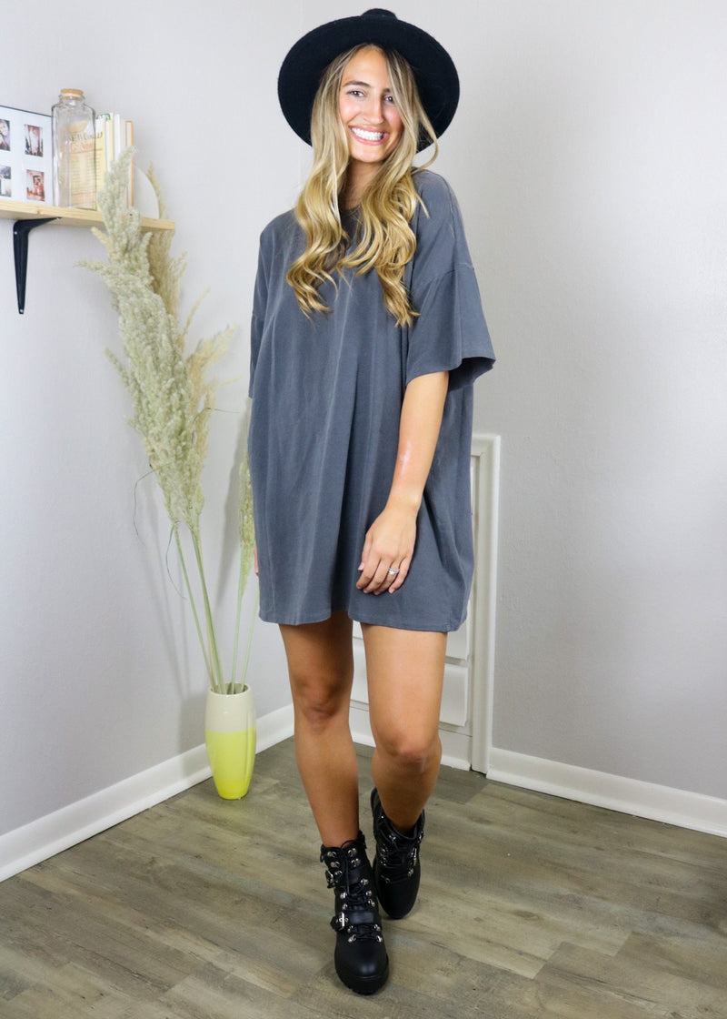 Eliza Vintage Black T-Shirt Dress Dress ~