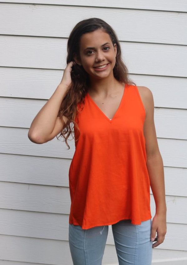 Everyday Orange Tank Tops ~