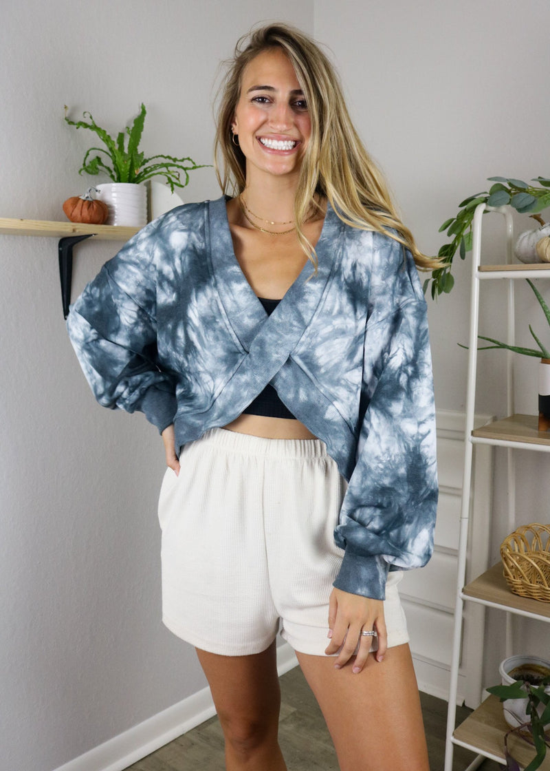 Galaxy Tie-Dye Reversible Pullover Pullover ~