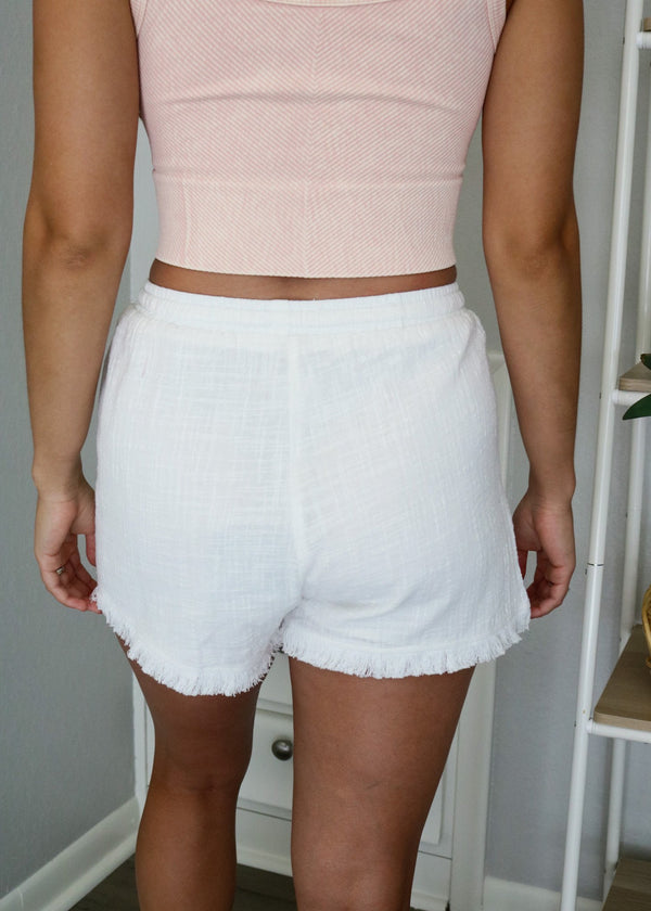 Go-To Everyday Linen Shorts Bottoms ~