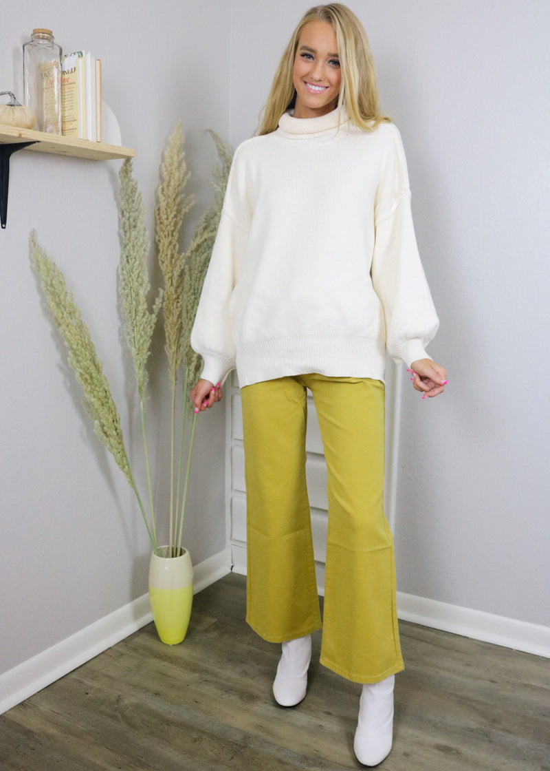 Golden Hour Yellow Flare Pants Bottoms ~
