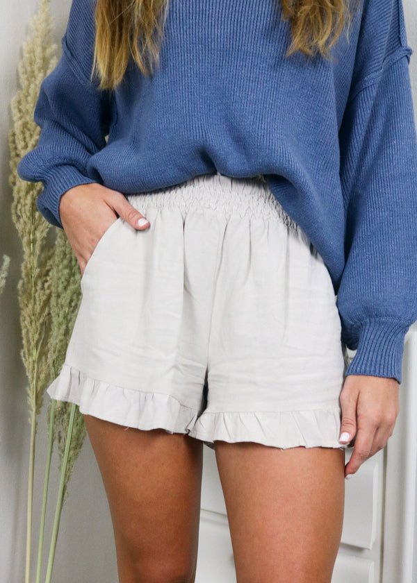 Harvest Neutral Ruffle Shorts Bottoms ~