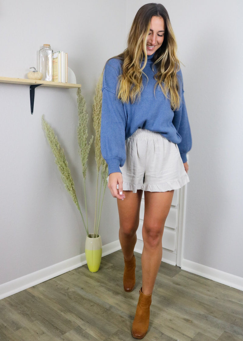 Harvest Ruffle Neutral Shorts Shorts ~