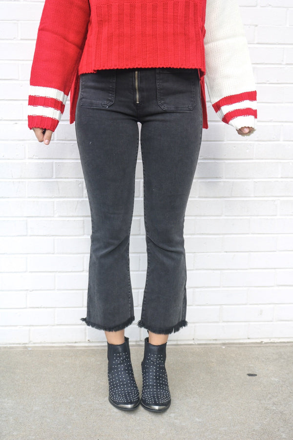 Hidden Cropped Flare Jeans Jeans Hidden Denim