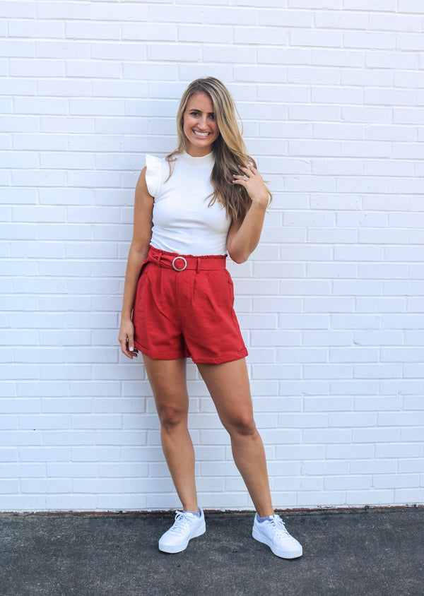High Waisted Spice Shorts Shorts Sadie & Sage