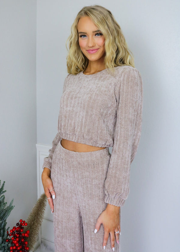 Keeping It Casual Knit Sweat Shirt Top Emory Park