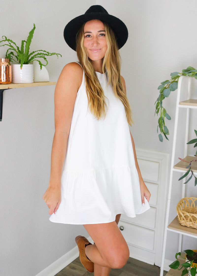 Layla White Flare Dress Dress ~