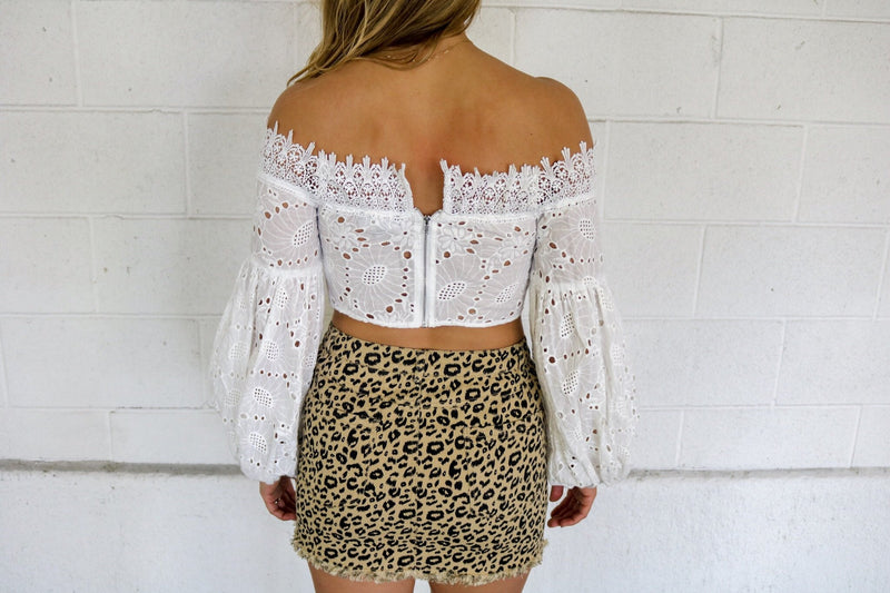Leopard Denim Skirt Skirt ~