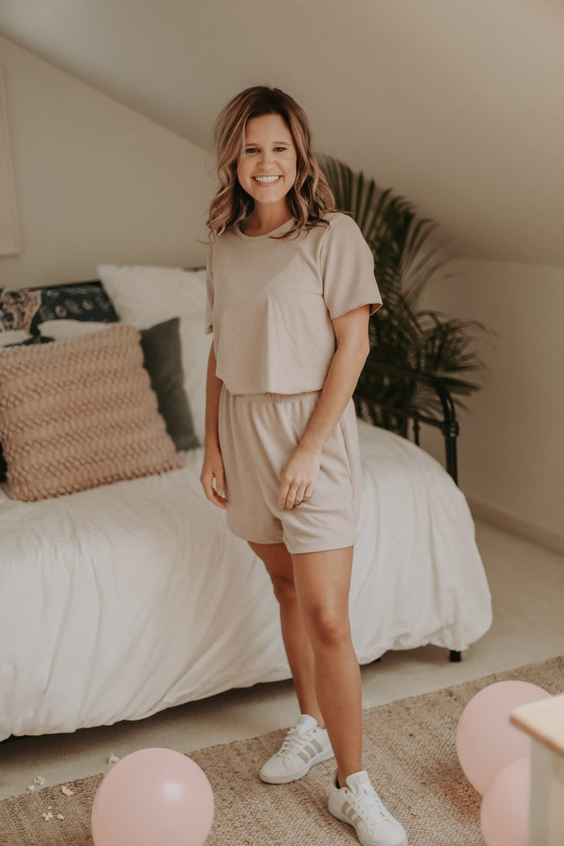 Lewis Mauve Top + Shorts Set Bolt Boutique