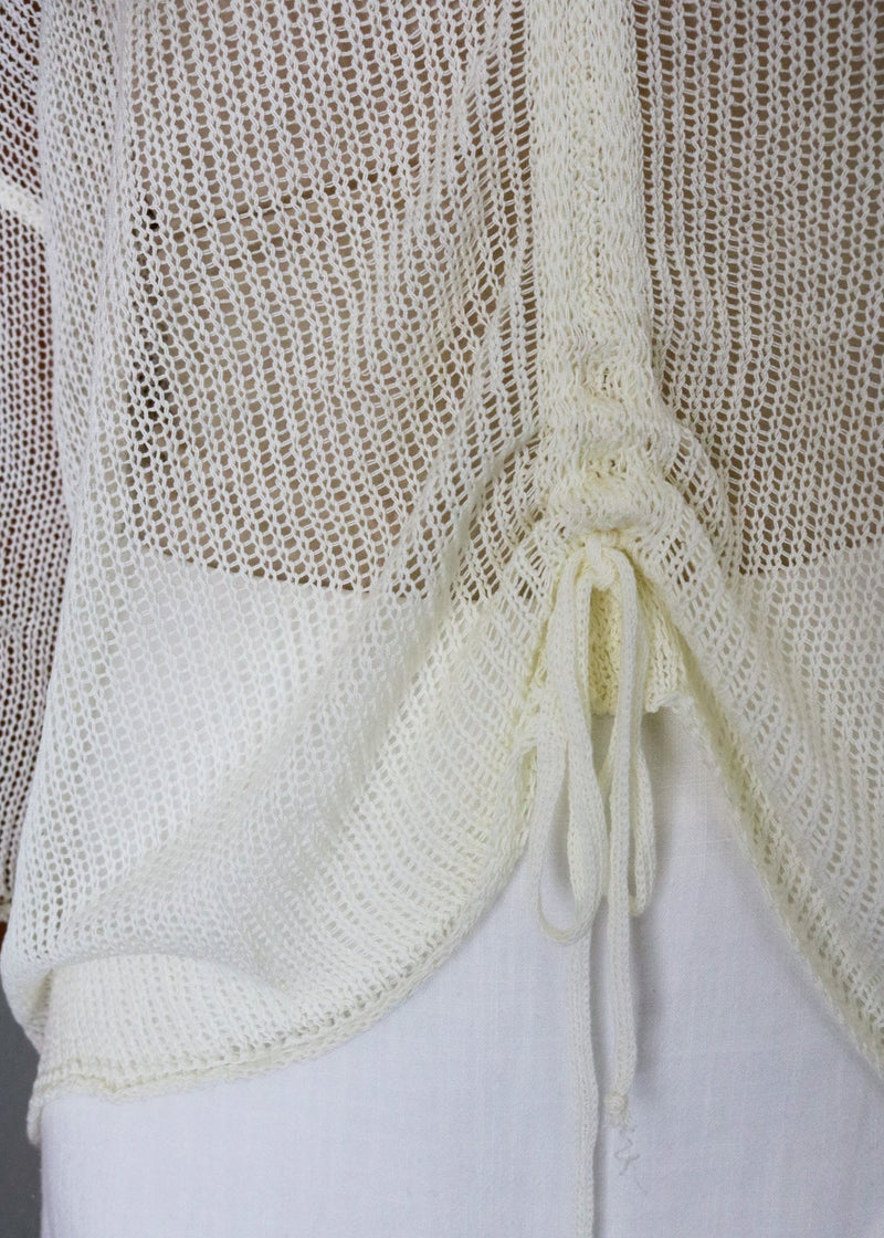 Lucia Crotchet Knit Top Top ~