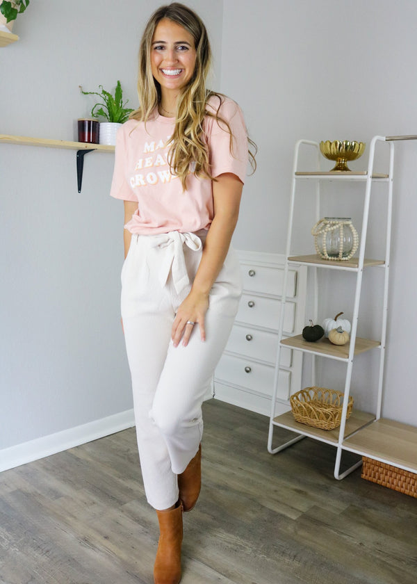 Madeline Cream Straight Leg Pant Bottoms ~