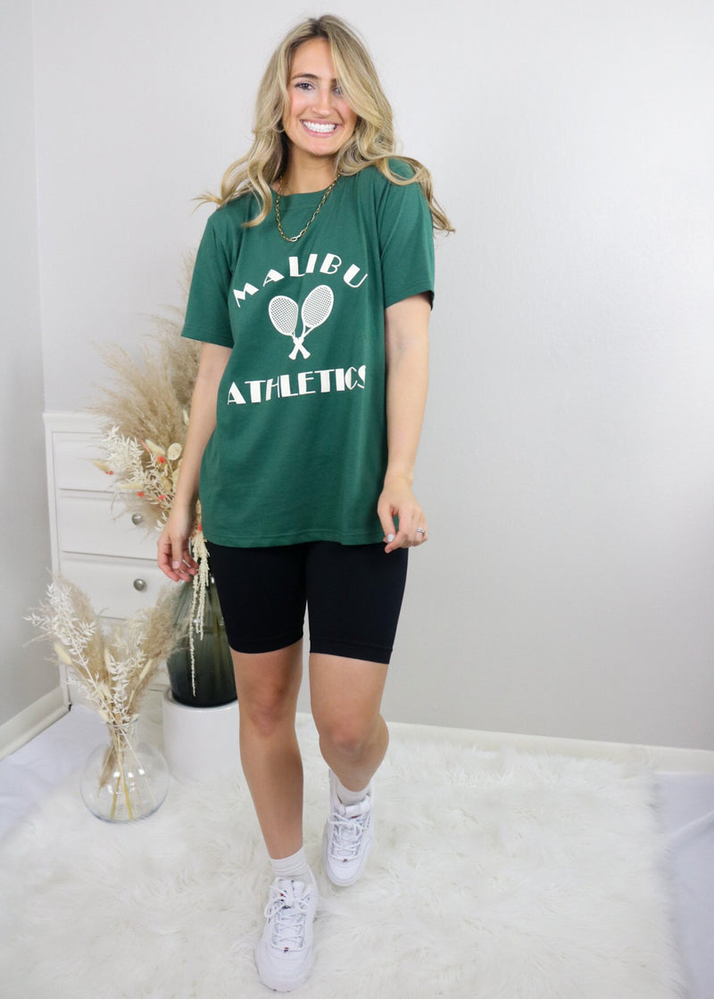 Malibu Athletics Graphic Tee Top Bailey Rose