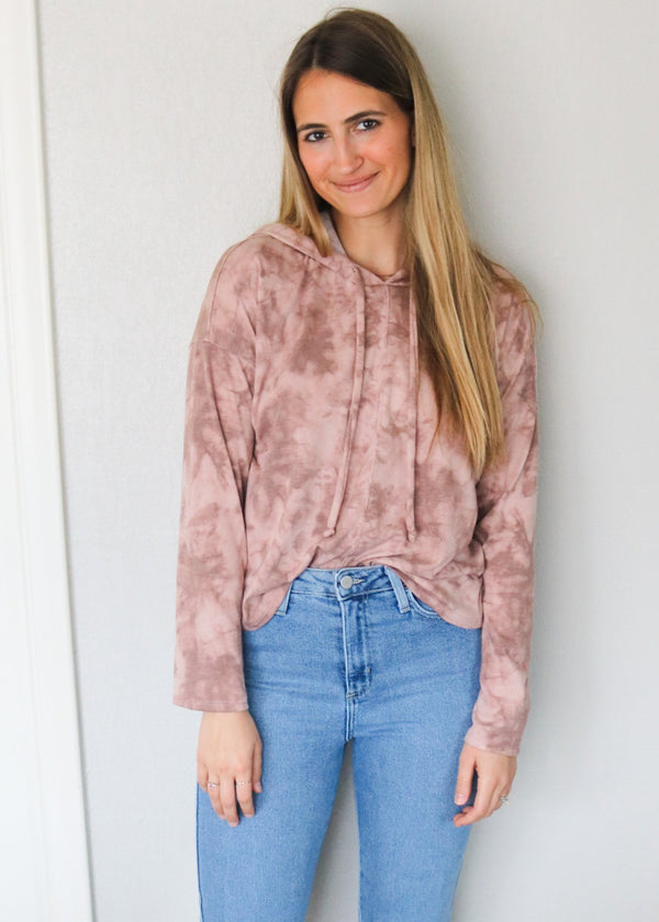 Mauve Acid Wash Pullover Pullover No Less Than
