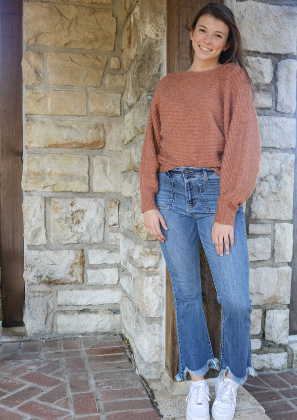 Maya Sweater - Rust Sweater ~
