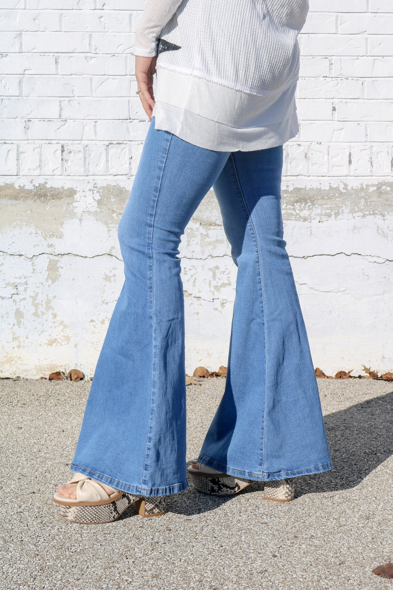 Medium Wash Bell Bottom Jeans ~
