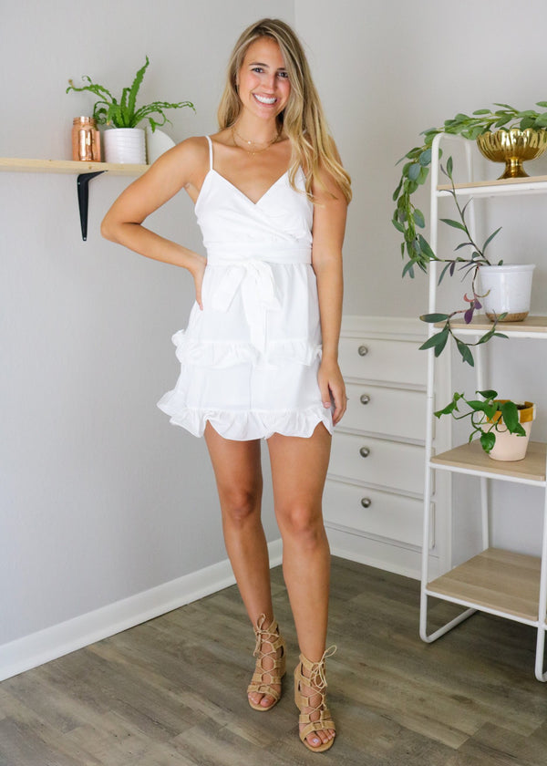 Melanie White Swing Dress Dress ~