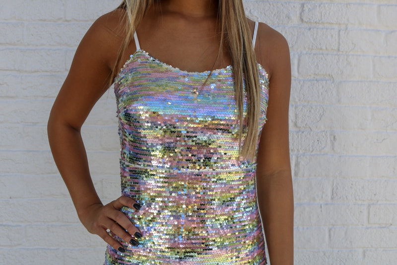 Multi Sequin Dress Dress ~